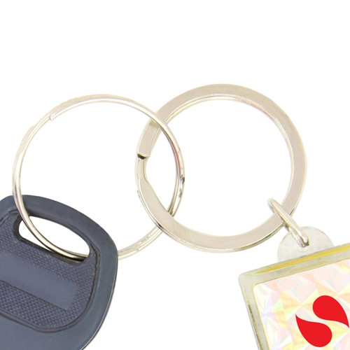 Transparent Flash Solar LCD Keychain