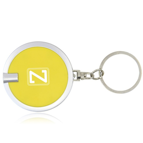 Disc Shaped Led Keychain Image 9