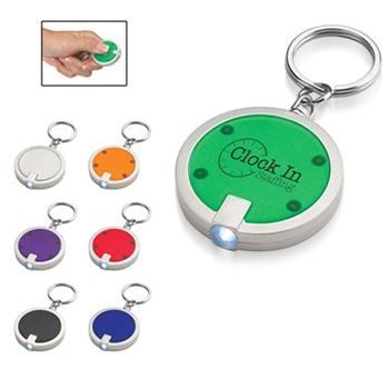 سلسلة مفاتيح مزودة بطاقة على شكل قرص