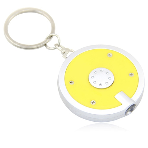 Disc Shaped Led Keychain Image 1