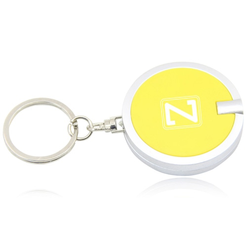 Disc Shaped Led Keychain Image 2