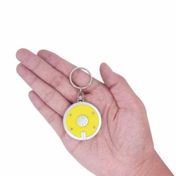 Disc Shaped Led Keychain