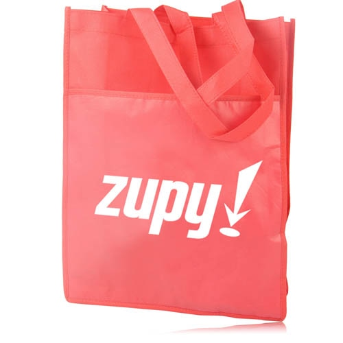 Side Paper Pocket Non-Woven Tote Bag Image 9