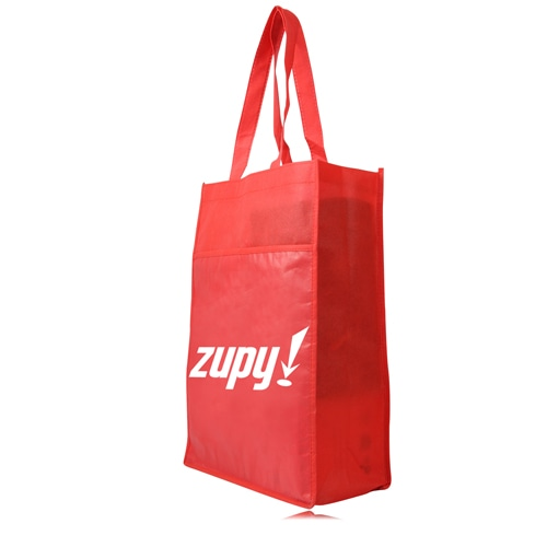 Side Paper Pocket Non-Woven Tote Bag Image 1
