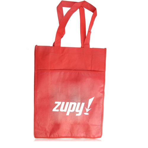 Side Paper Pocket Non-Woven Tote Bag Image 4