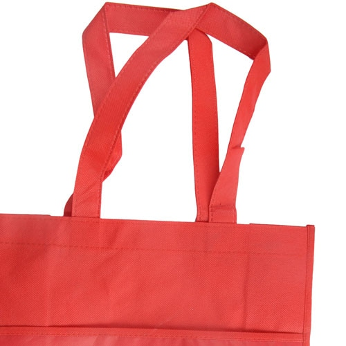 Side Paper Pocket Non-Woven Tote Bag Image 5