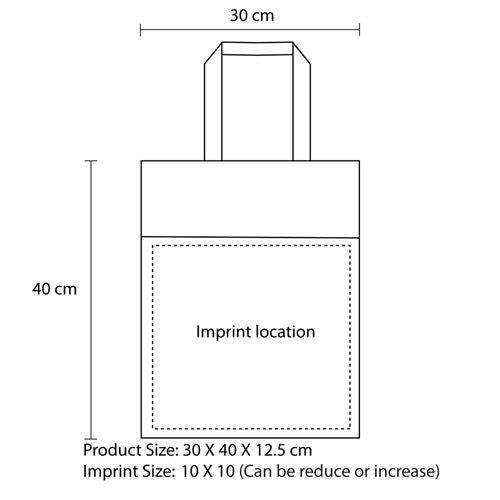 Side Paper Pocket Non-Woven Tote Bag Imprint Image