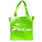 Shiny Metallic Shopper Tote Bag