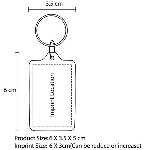 Rectangular Frame Acrylic Keychain