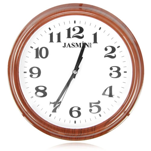 13 Inch Wood Like Frame Wall Clock