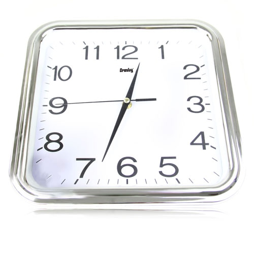 12 Inch Swanky Square Wall Clock Image 1
