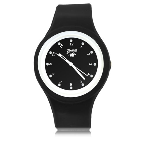 Ritzy Dial Silicone Watch