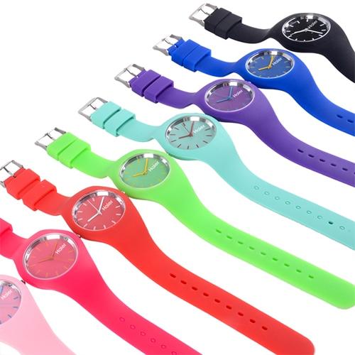 RoRoz Round Silicon Wrist Watch Image 3