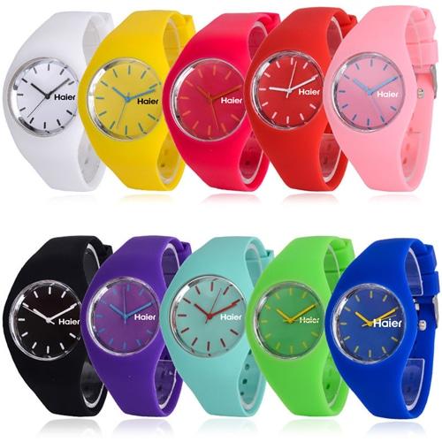 RoRoz Round Silicon Wrist Watch Image 4