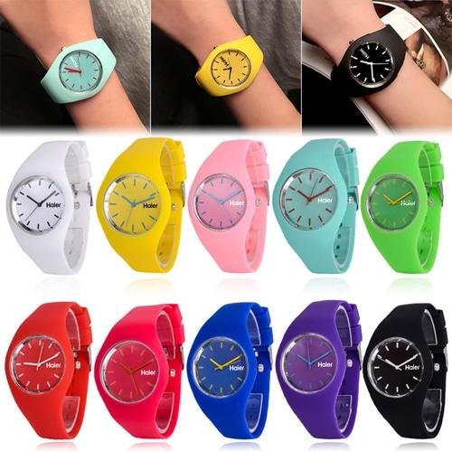 RoRoz Round Silicon Wrist Watch Image 6