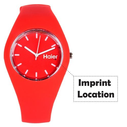 RoRoz Round Silicon Wrist Watch Imprint Image