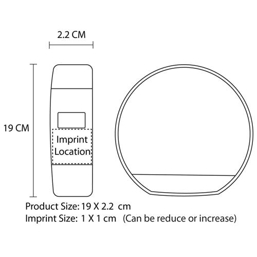 Sport Wristband Silicone Wrist Watch Imprint Image