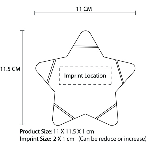 Star Shaped Highlighter Imprint Image
