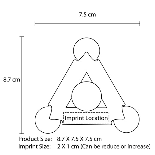 Pyramid Shaped Highlighter Imprint Image