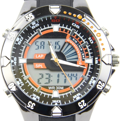Dual Time Display Watch