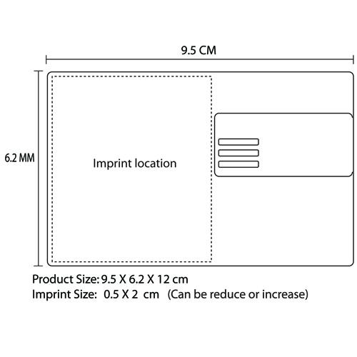 Executive Style Card Holder Imprint Image