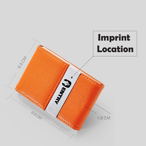 Stylish Business Card Holder Imprint Image