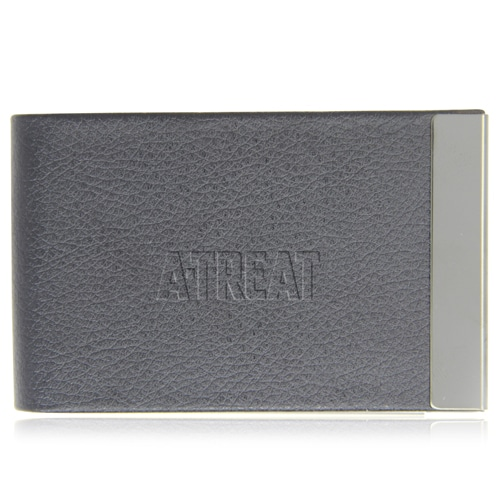 Vertical Leather Business Card Holder Image 1