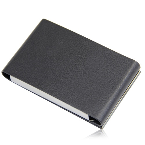 Vertical Leather Business Card Holder Image 8