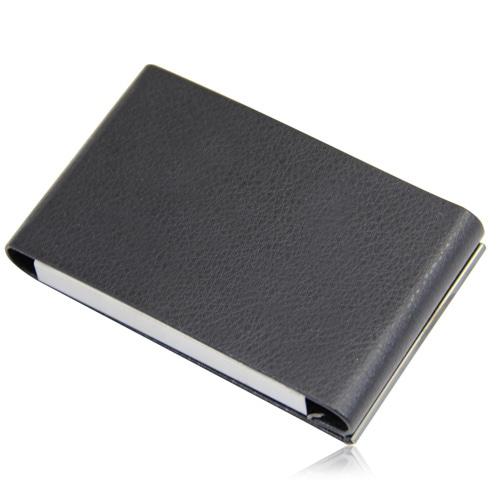 Vertical Leather Business Card Holder Image 8