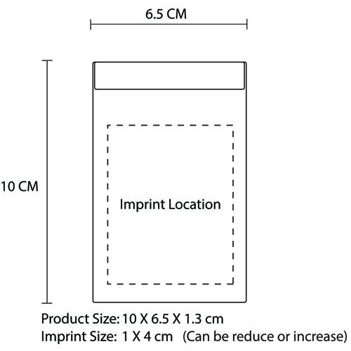 Vertical Leather Business Card Holder Imprint Image