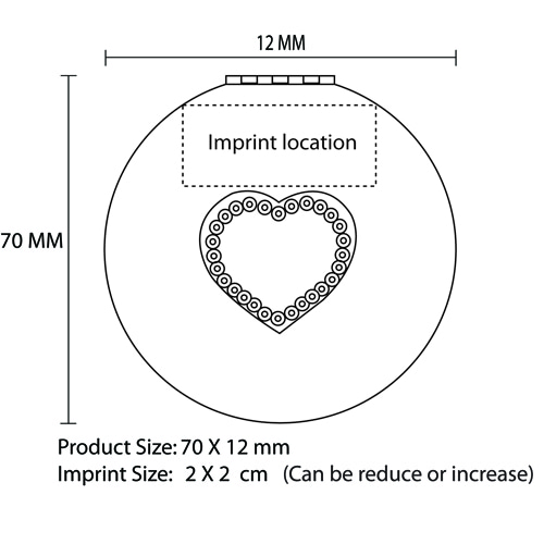 Heart Diamond Design Mirror Imprint Image