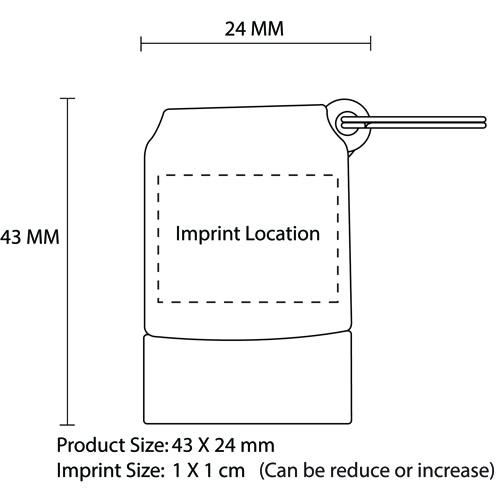 1GB Twister Swivel Flash Drive Imprint Image