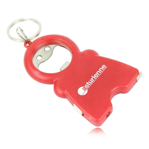 Smile Keychain Opener Light With Tape Measure Image 12