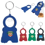 Smile Keychain Opener Light With Tape Measure