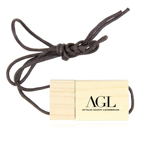 1GB Eco Wooden Flash With Lanyard Image 2