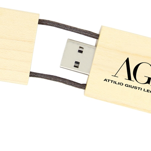1GB Eco Wooden Flash With Lanyard Image 6