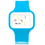 Wide Dial Silicon Wrist Watch