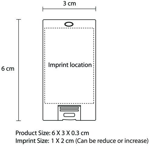 32GB Mini Credit Card Flash Drive Imprint Image