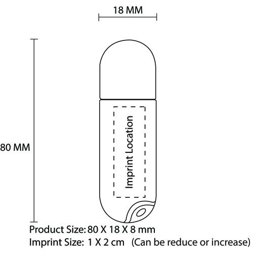 8GB Classy Translucent Flash Drive Imprint Image
