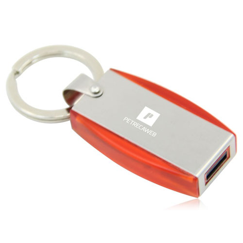 2GB Deluxe Keyring Flash Drive Image 2