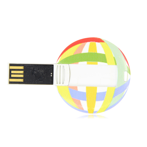 8GB Flat Round Flash Drive