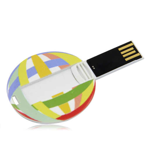 8GB Flat Round Flash Drive Image 5