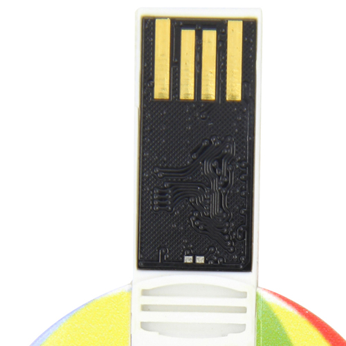 8GB Flat Round Flash Drive Image 6
