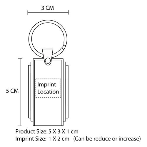 2GB Retractable USB Flash Drive Imprint Image