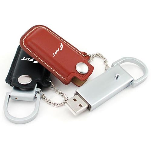 32GB Dashing Flash Drive With Leather Case