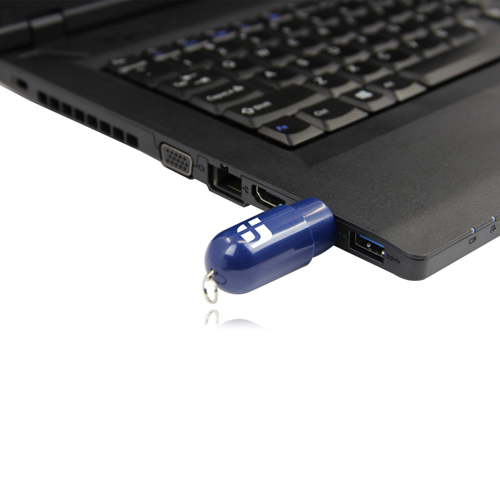 4GB Capsule Shaped Flash Drive Image 3