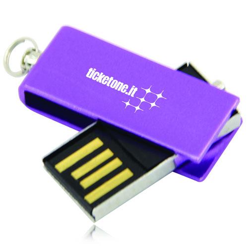 2GB Mini Rotate Metal Flash Drive