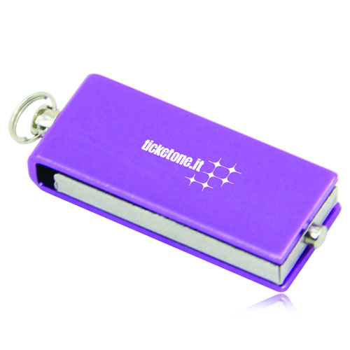 4GB Mini Rotate Metal Flash Drive Image 1