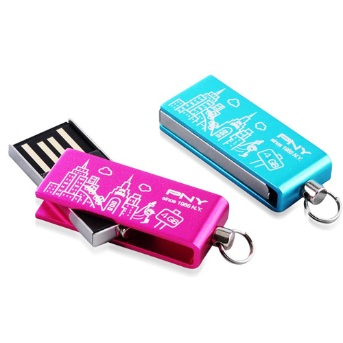 16GB Mini Rotate Metal Flash Drive