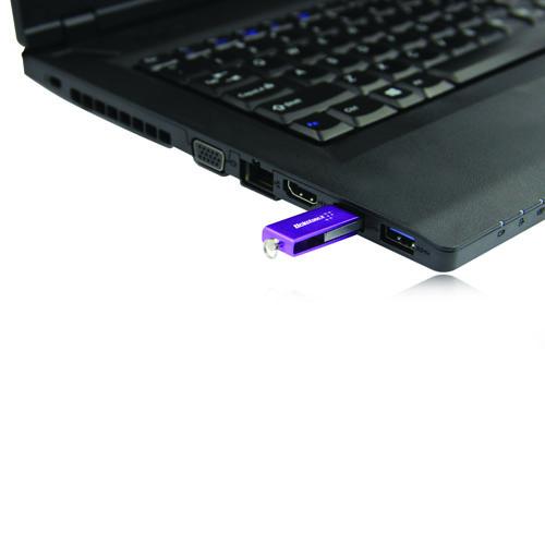 32GB Mini Rotate Metal Flash Drive Image 3